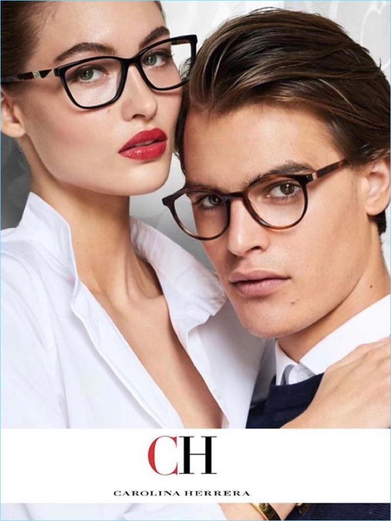 Grace Elizabeth and Parker van Noord star in CH Carolina Herrera's fall-winter 2017 eyewear campaign.