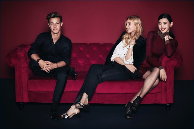 Daniel Wellington enlists Cameron Dallas, Elsa Hosk, and Ming Xi as the stars of its holiday 2017 campaign.