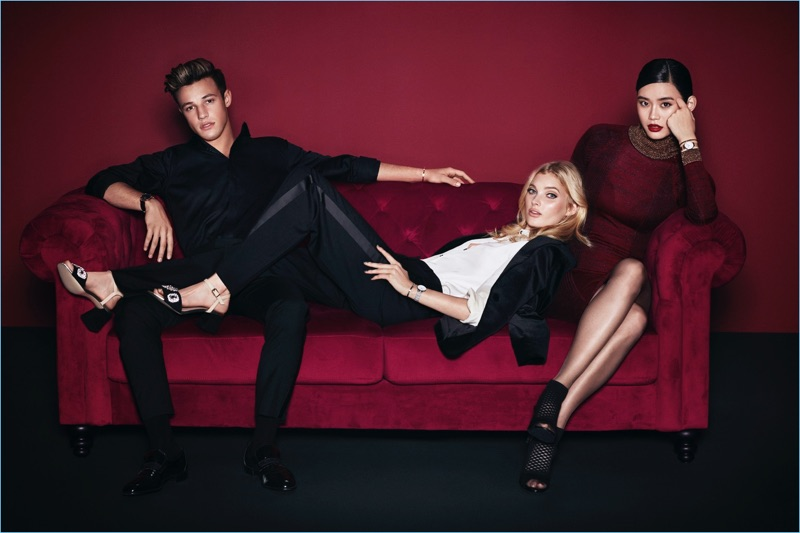 Andrew Yee photographs Cameron Dallas, Elsa Hosk, and Ming Xi for Daniel Wellington's holiday 2017 campaign.