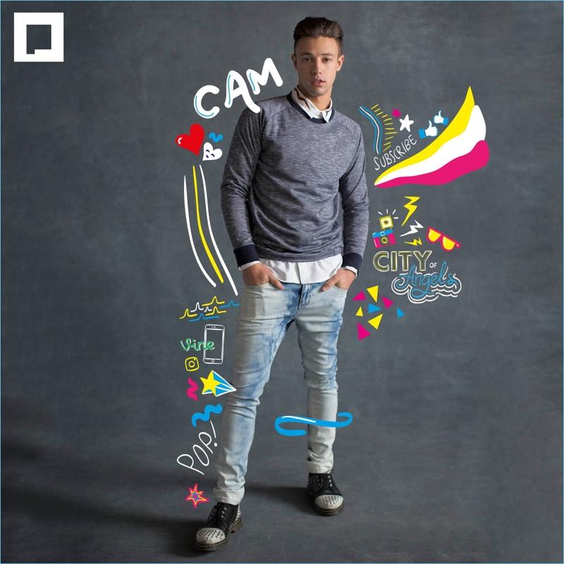 Cameron Dallas stars in Penshoppe's holiday 2017 campaign.
