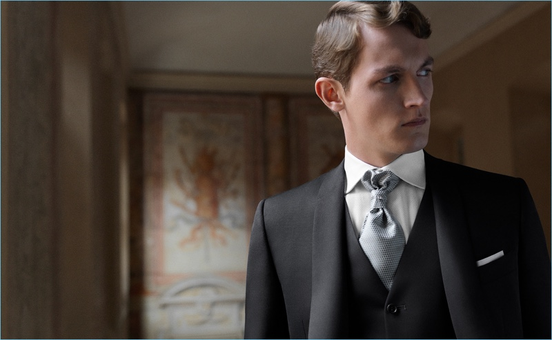 Canali taps model Rutger Schoone to sport its latest formalwear.