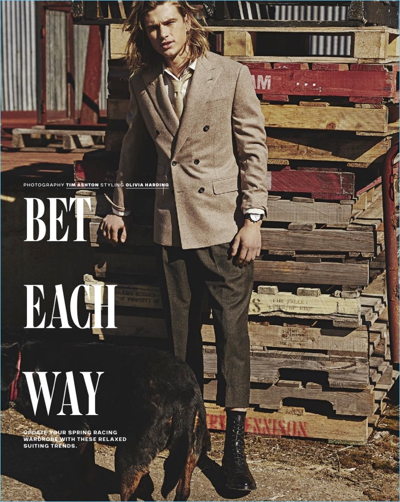 Bet Each Way: Charlie Kennedy for GQ Australia
