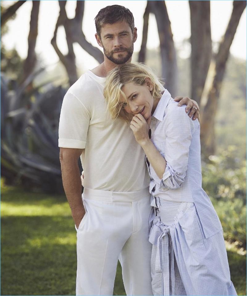 Actors Chris Hemsworth and Cate Blanchett reunite for Vogue Australia.