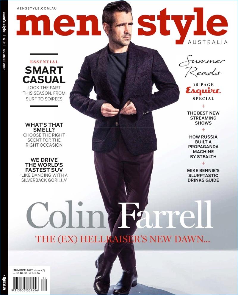 Colin Farrell 2017 Men's Style Australia Cover