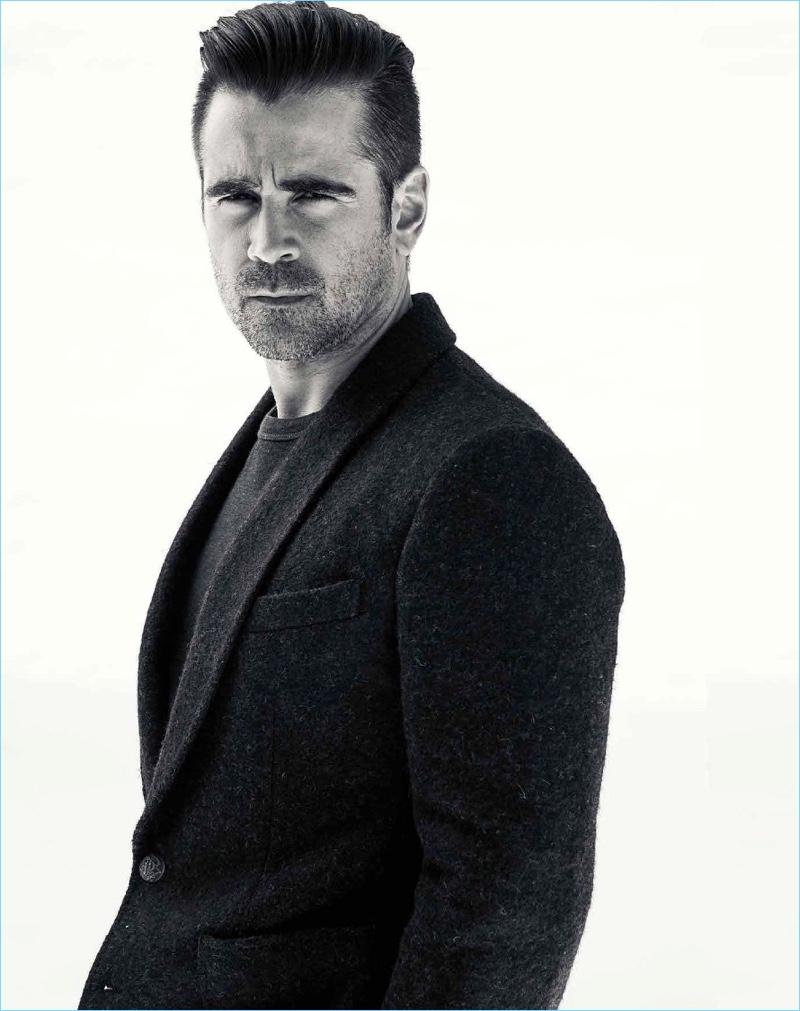 Men's Style Australia spotlights Colin Farrell for its latest issue.
