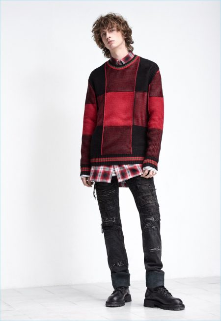 Diesel Black Gold takes into 2018 with its pre-fall collection that includes red and black.
