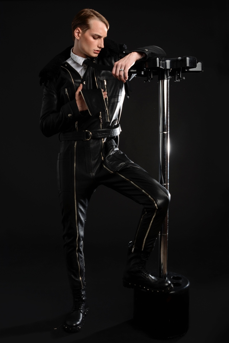 Felix Velbinger wears all clothes and accessories Les Hommes.