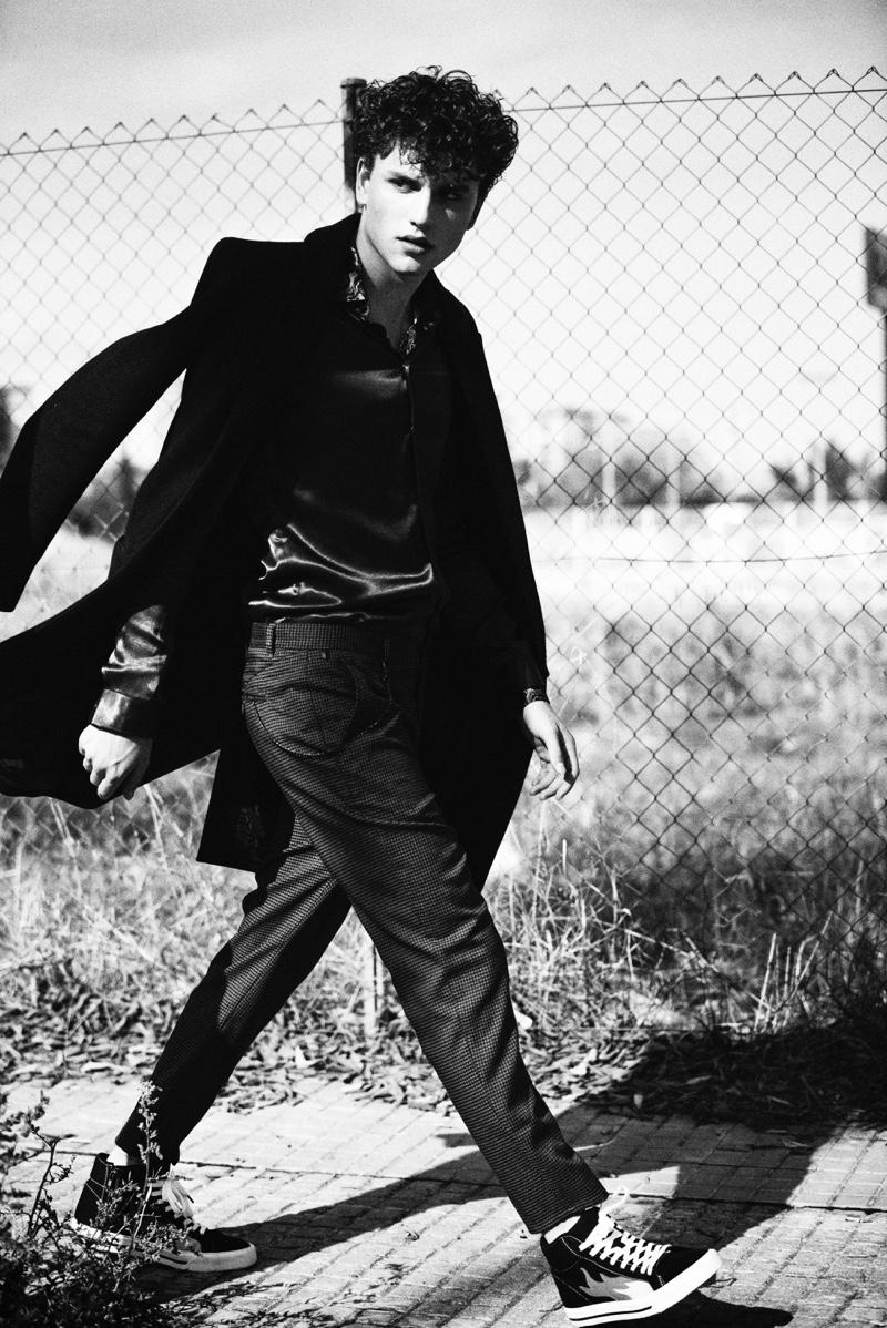 Up and comer Steve Sarkozy wears Zara Man.