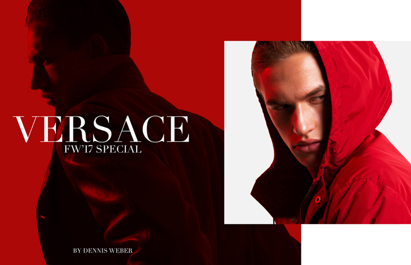 Fashionisto Exclusive: Ruben Vanghillewe and Paul François photographed by Dennis Weber in Versace