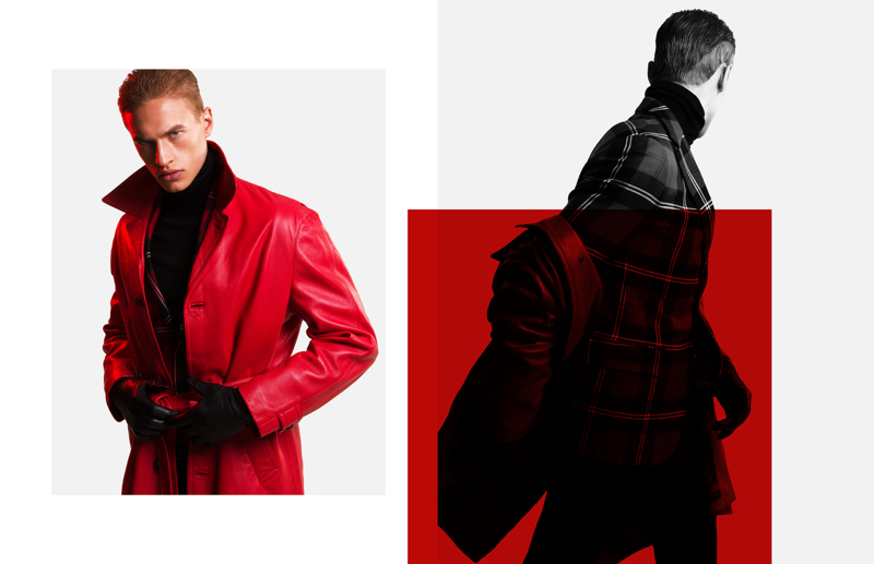 Dennis Weber photographs Paul François in fall-winter 2017 fashions from Versace.