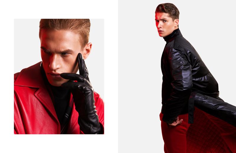 Inspiring to say the least, Paul François and Ruben Vanghillewe wear Versace.