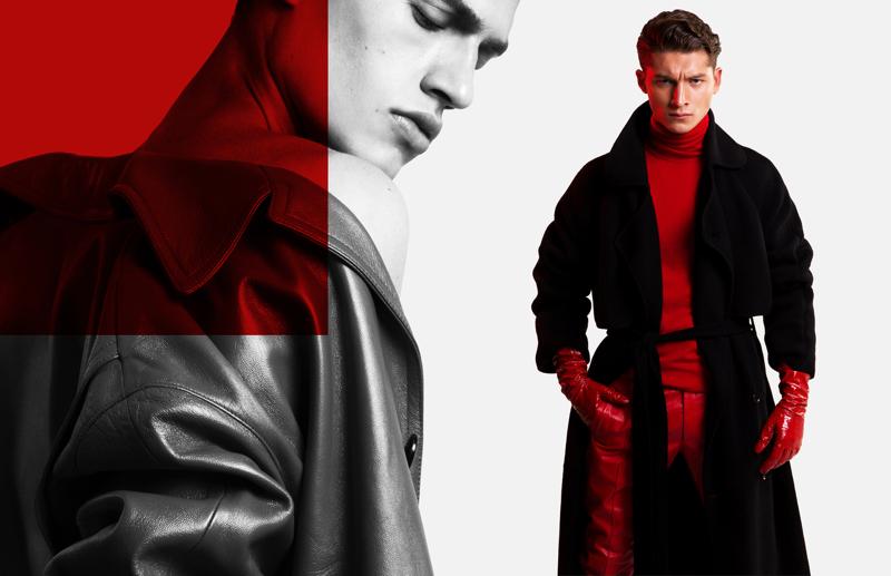 Photographer Dennis Weber captures models Paul François and Ruben Vanghillewe in Versace.