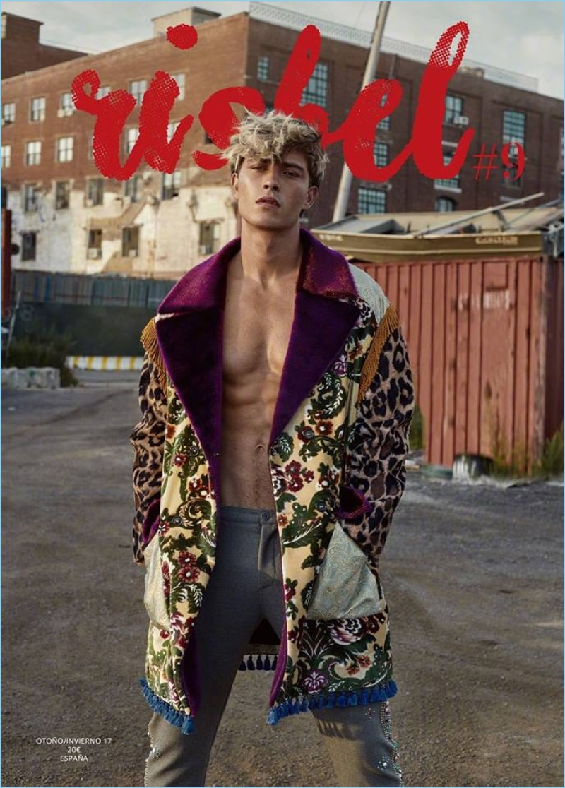 Francisco Lachowski Goes Blond for Risbel Magazine