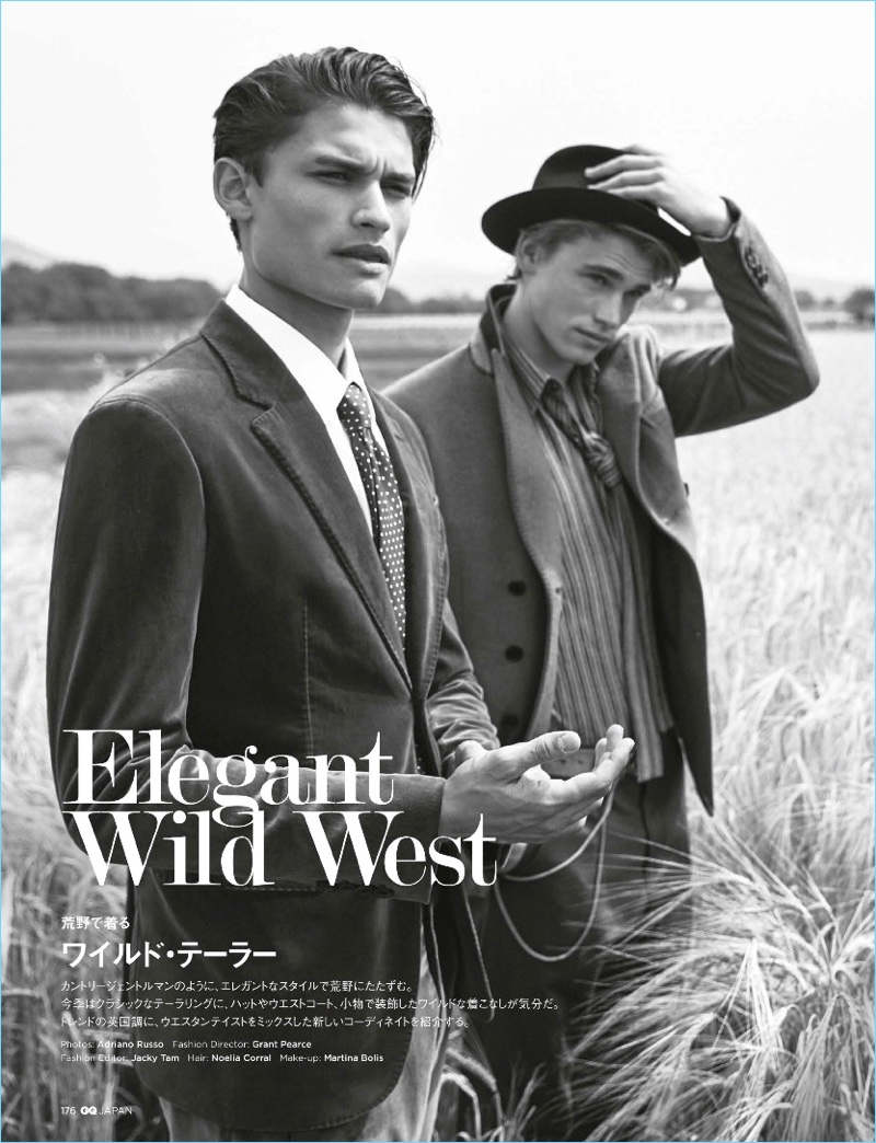 Elegant Wild West: Sean O'Pry + More for GQ Japan