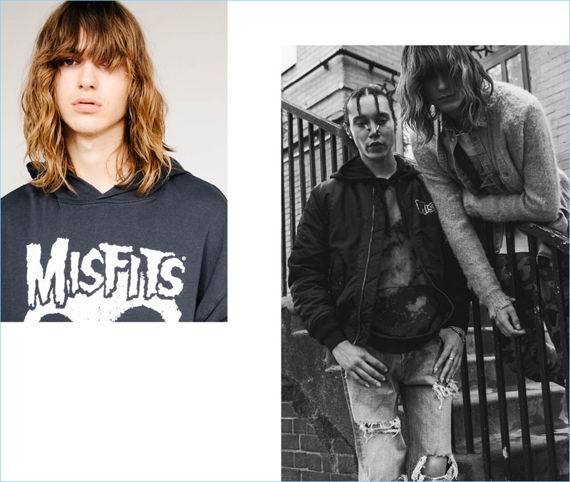 """Swedish brand H&M delivers """"Misfits"""" fashions for its grunge-inspired arrivals."""