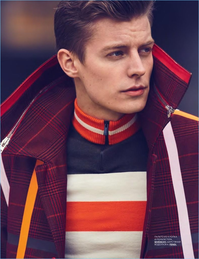 Janis Ancens Models Playful Fall Fashions for GQ Style Russia