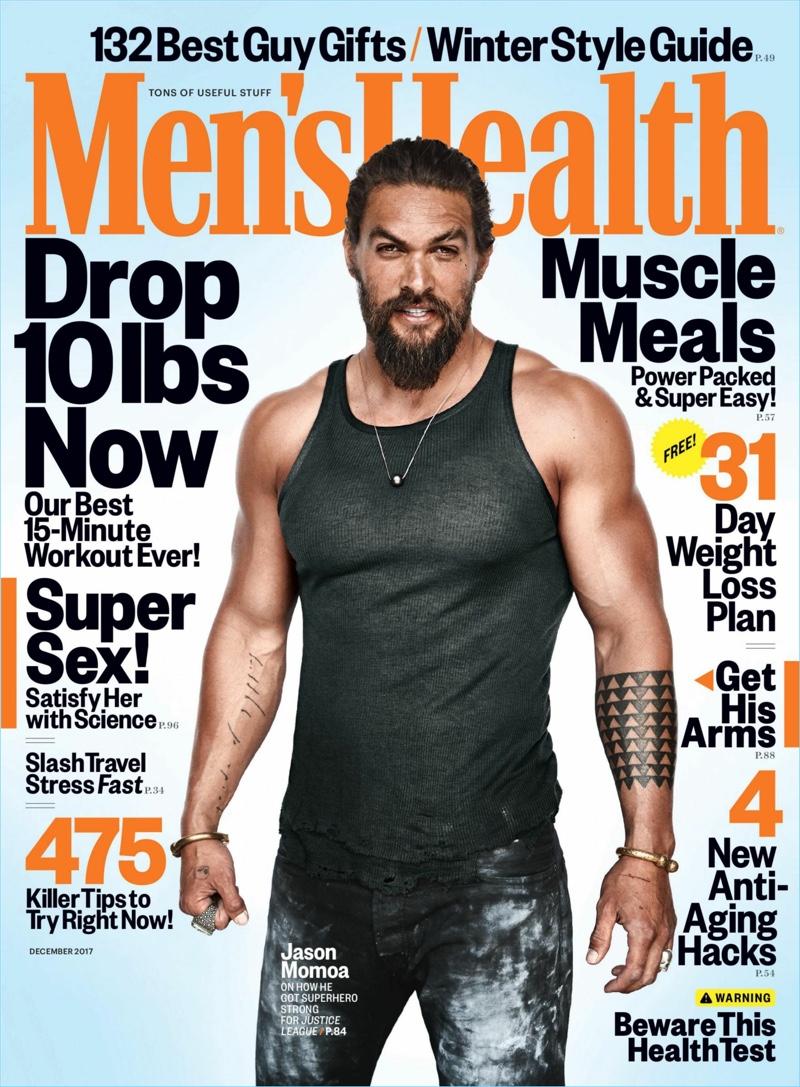 Jason Momoa 2017 Men's Health Cover