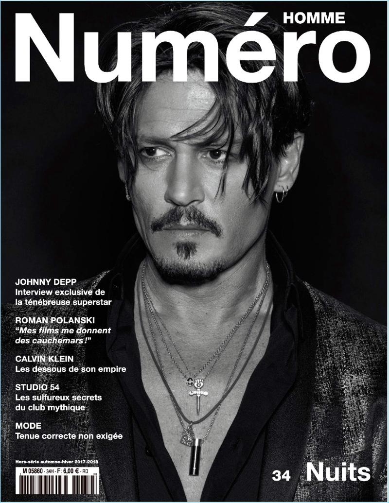 Johnny Depp Numéro Homme 2017 Cover