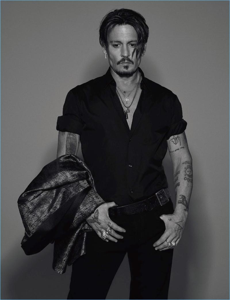 Jean-Baptiste Mondino photographs Johnny Depp for Numéro Homme.