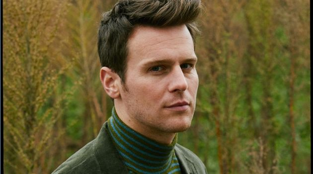Making a case for green, Jonathan Groff wears a look from Todd Snyder.