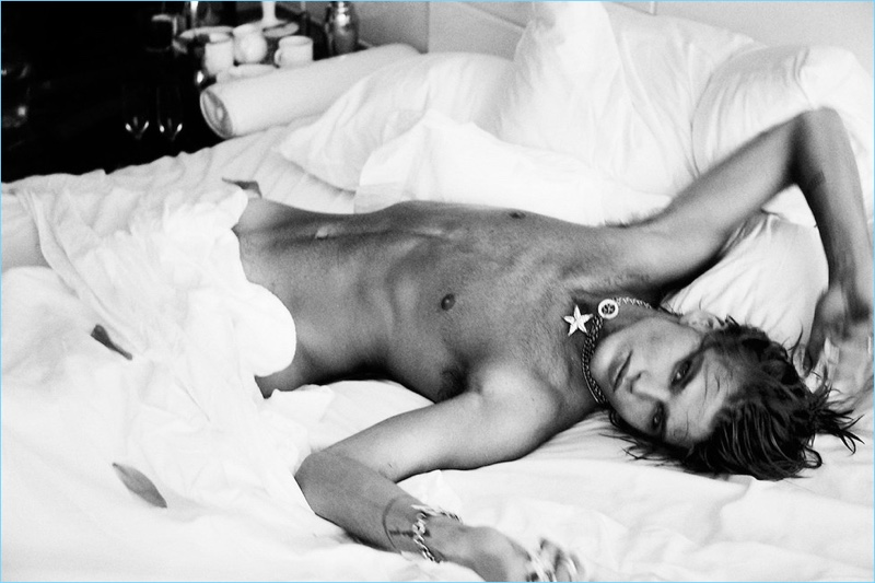 Jordan Barrett Nude Bed Picture
