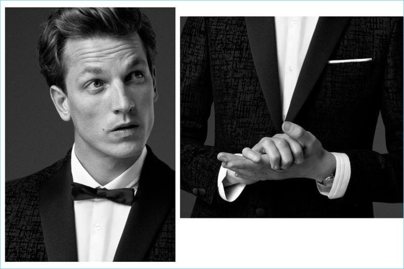 Donning a tuxedo, Hugo Sauzay stars in KİP's fall-winter 2017 campaign.