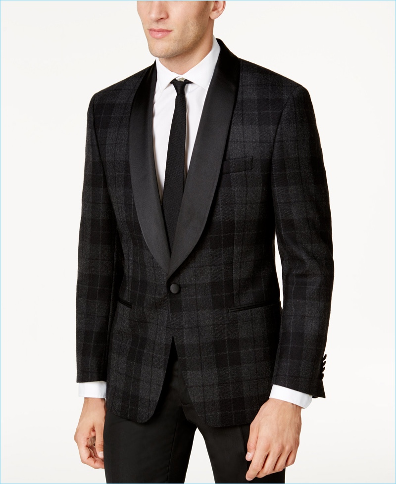 Lauren Ralph Lauren Classic-Fit Tartan Evening Jacket
