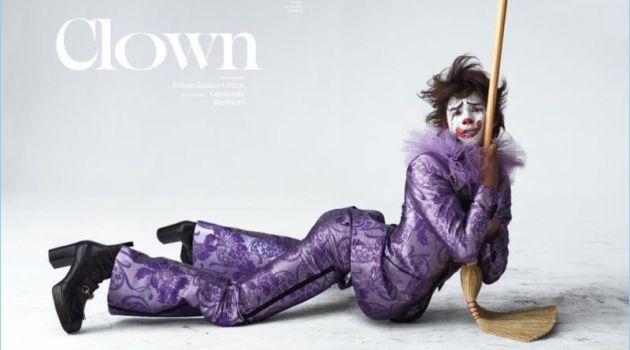 Louis Baines is a 'Clown' for Vogue Hommes Paris