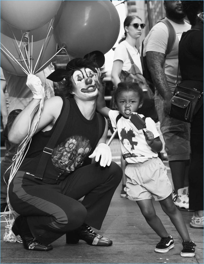 Louis Baines is a 'Clown' for Vogue Hommes Paris