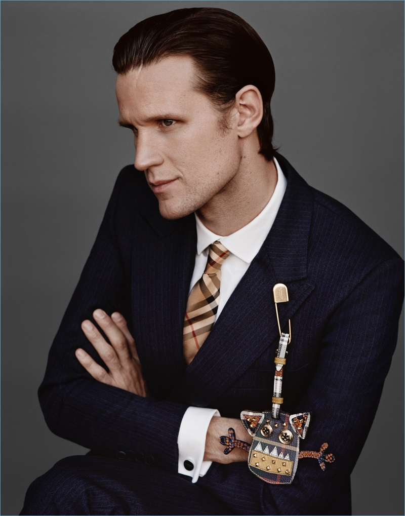 Actor Matt Smith fronts Burberry's holiday 2017 campaign.