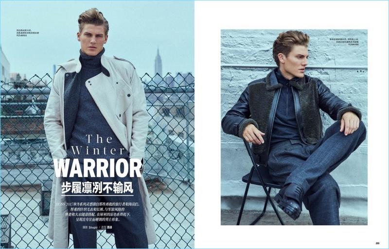 The Winter Warrior: Mikkel Jensen for Elle Men China