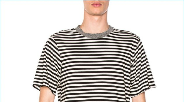 NSF Bryce Striped Black White T-Shirt