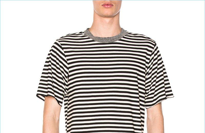 NSF Bryce Striped Black White T-Shirt