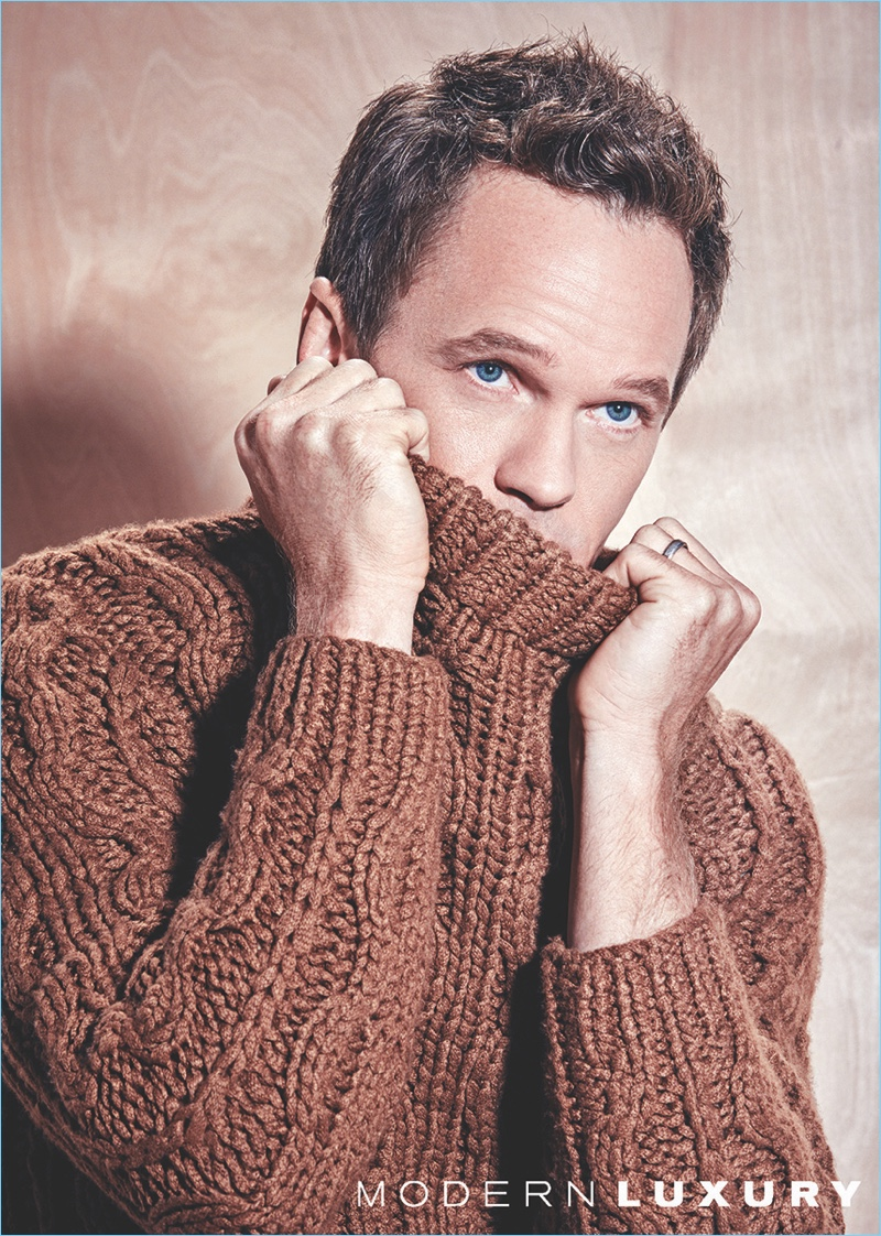 Neil Patrick Harris wears floral camouflage suit for Glamour ...