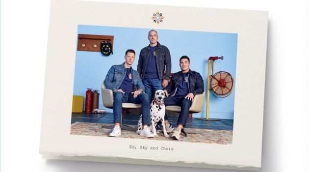 New York firefighters Sky, Ed, and Chris star in Nordstrom's holiday 2017 campaign.