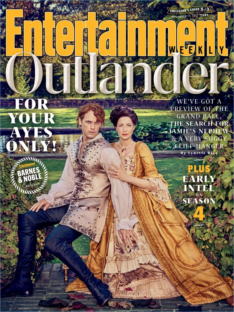 Entertainment Weekly taps Outlander stars Sam Heughan and Caitriona Balfe for its latest cover.