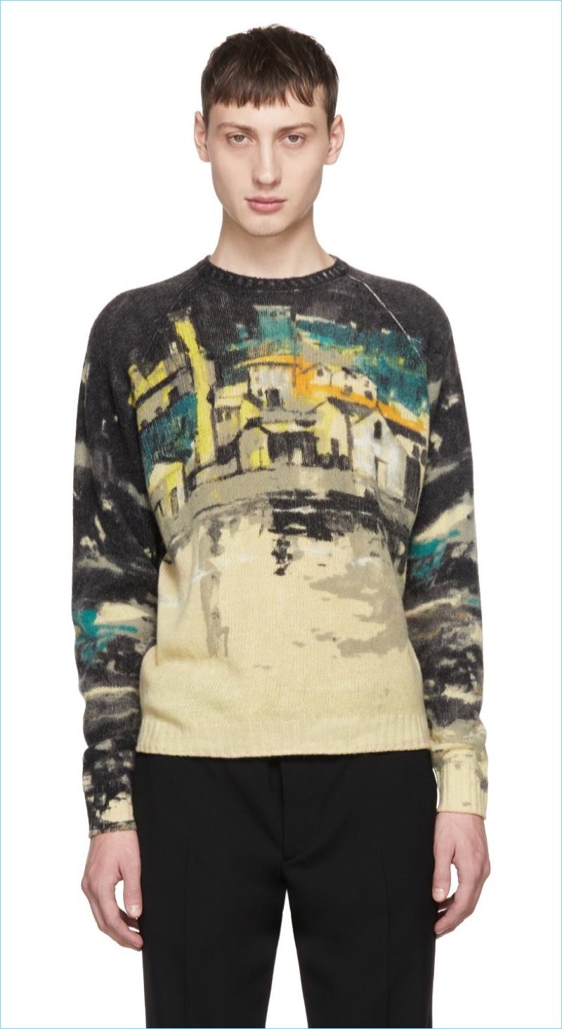 Prada Shetland Village Sweater