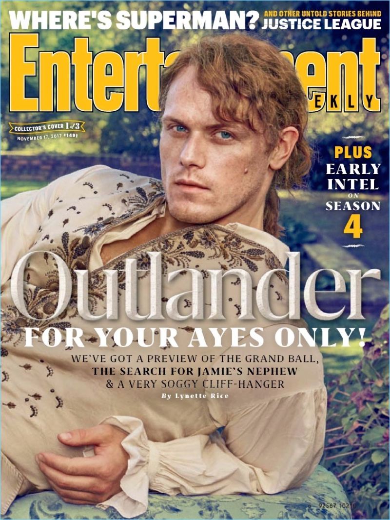 Sam Heughan Outlander Jamie Fraser Entertainment Weekly 2017 Cover