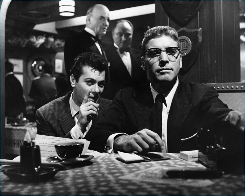 The 1957 film Sweet Smell of Success features Ray-Ban's Clubmaster glasses.