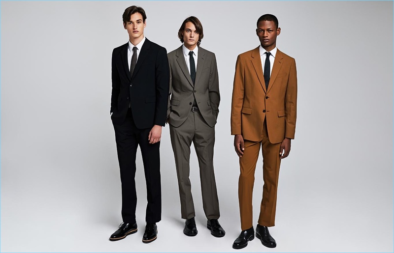 Theory enlists Jegor Venned, Timur Muharemovic, and Lucas Cristino to model its latest suits.