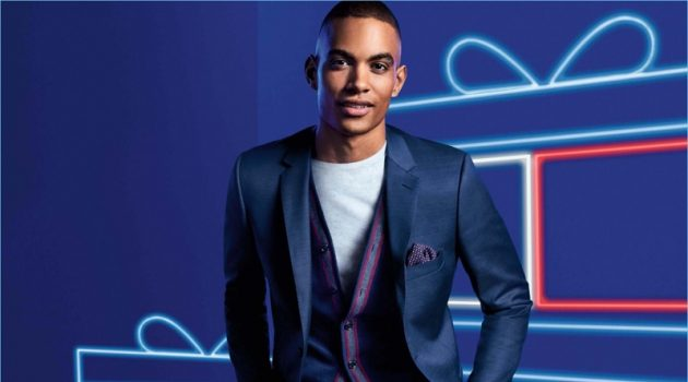 Terrence Telle fronts Tommy Hilfiger's holiday 2017 campaign.
