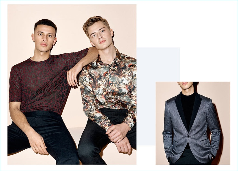 Liven up the holiday season with fun prints by Topman.