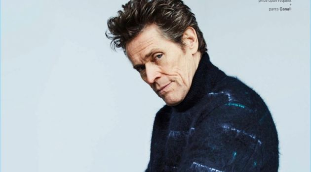 Connecting with GQ Style, Willem Dafoe wears a Dior Home turtleneck with Canali trousers.