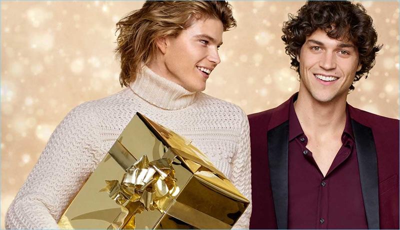 Jordan Barrett and Miles McMillan front Zalando's holiday 2017 campaign.