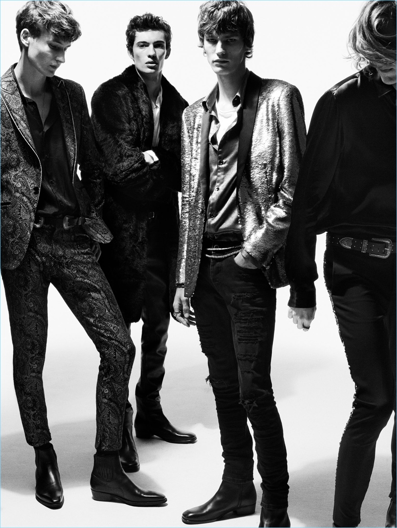 Frederik Ruegger, Piero Mendez, Elias de Poot, and Marcel Castenmiller embrace Zara's rock style.