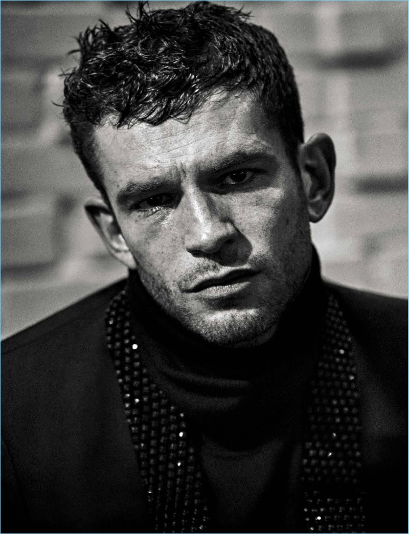 French actor Arnaud Valois wears Saint Laurent for L'Uomo Vogue.