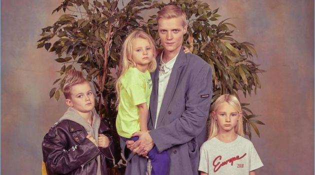 A father and his kids appear in Balenciaga's spring-summer 2018 campaign.