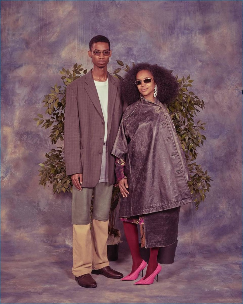 Balenciaga continues its family theme for spring-summer 2018 with a son and mother.