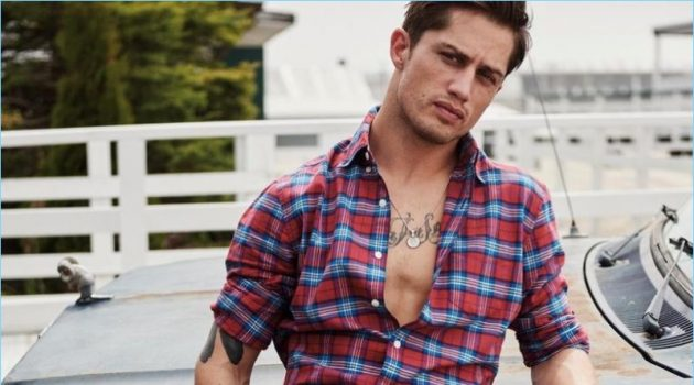 Professional bull rider Bonner Bolton stars in American Eagle's fall-winter 2017 denim campaign.