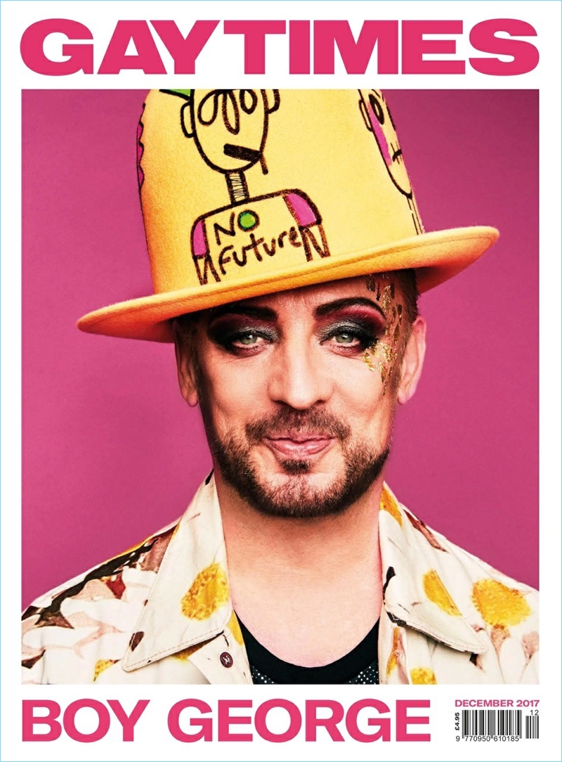 Boy George covers the December 2017 issue of Gay Times.